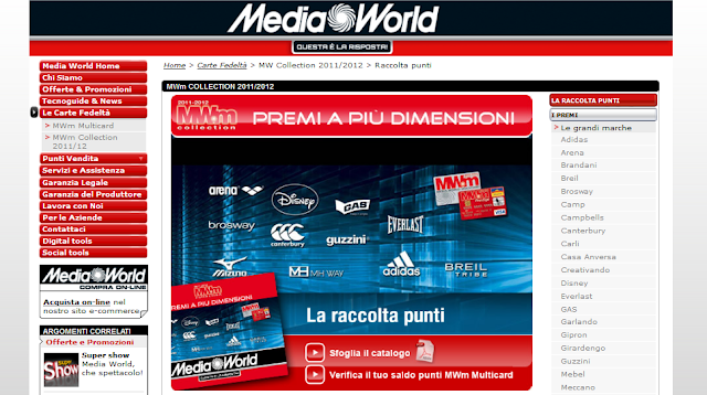 Catalogo punti MediaWorld