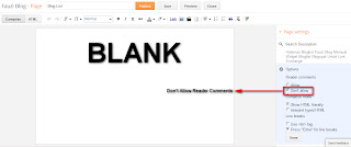 Create Blank Static Page In Blogger - Fauzi Blog