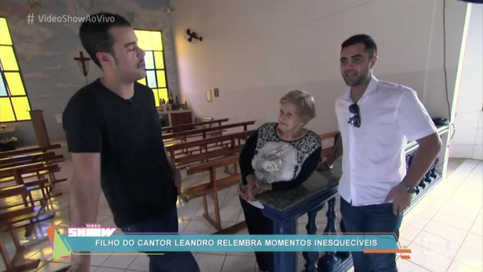 Thiago programa vídeo show homenagem a LEANDRO 23 6 2016