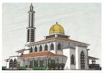 Infaq untuk masa depan di Akhirat sana. Masjid Mukim Pulau, Kg. Pulau Raja.