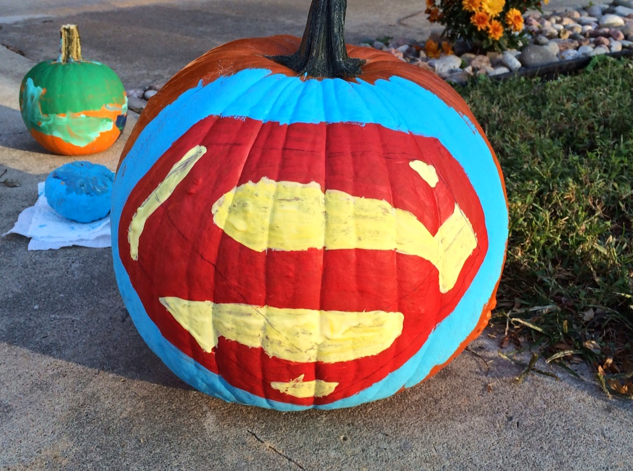 #paintedpumpkin #superman #halloween