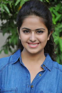 Acress Avika Gor Pictures in Pink Tight Jeans at Uyyala Jampala Movie Press Meet 0008.jpg