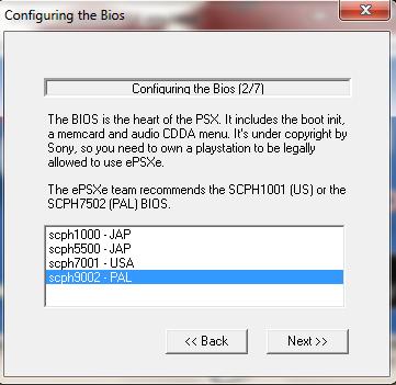 ePSXe Emulator 1.8.0 - Setting BIOS