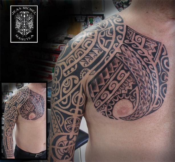 Tatouage en Polynésie  - tatouage style polynésien
