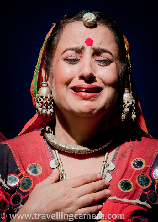 Recently a play by Ranjit Kappor called Aadamzad was showcased at Sammukh, NSD and it was around two families in Rajasthan. But this photograph is not about the play the dress this girl is wearing. Dress and jewellery is typical Rajasthani style and whole world is fan of this. Although happy expressions would have been better, but overall this photograph touched my heart and thought of sharing it here.