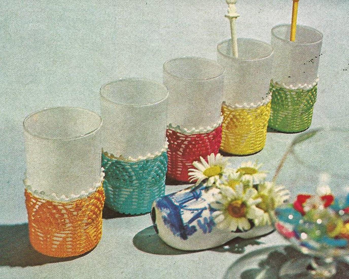 Fundas para Vasos a Crochet