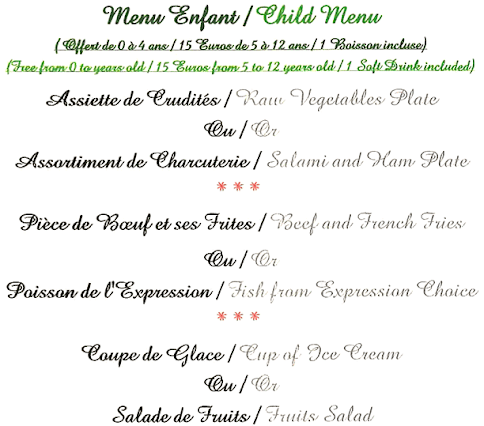 villa navarre hotel restaurant menu enfant. Black Bedroom Furniture Sets. Home Design Ideas