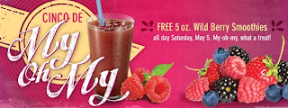 Free Wild Berry Smoothie at Taco Bueno ~ Today 5/5