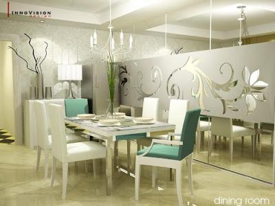 diseño de comedor moderno y elegante