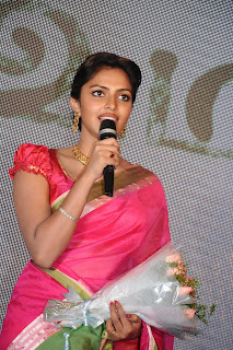 Actress Amala Paul Pictures in Pink Saree at Saivam Movie Audio Launch  0012.jpg