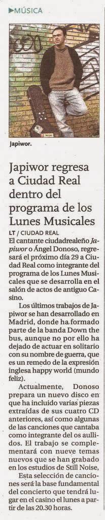 27/10/2012 LA TRIBUNA DE CIUDAD REAL