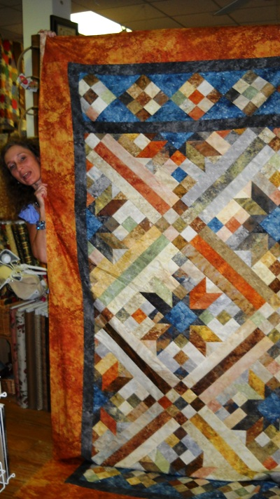 Quilt Patterns For Stonehenge Fabric : Little Quilts Blog: Stonehenge fabric comes alive