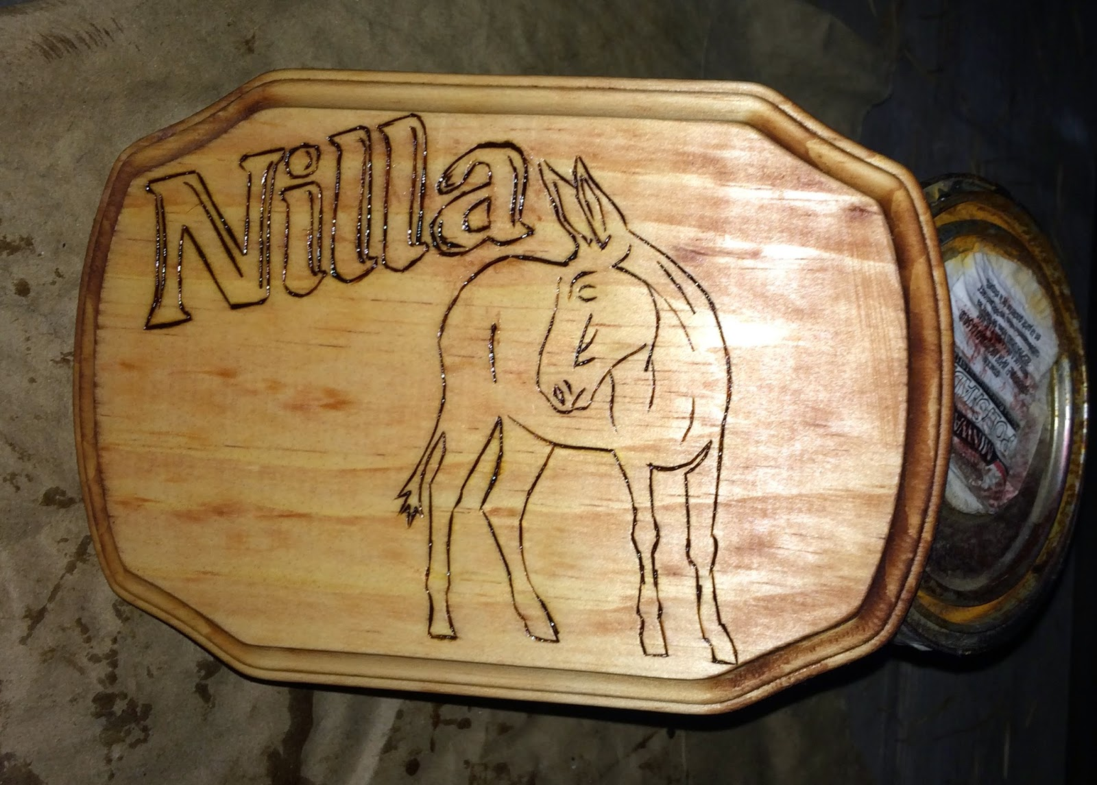 Do It Yourself Horse Ownership -- How to make a wood horse stall sign