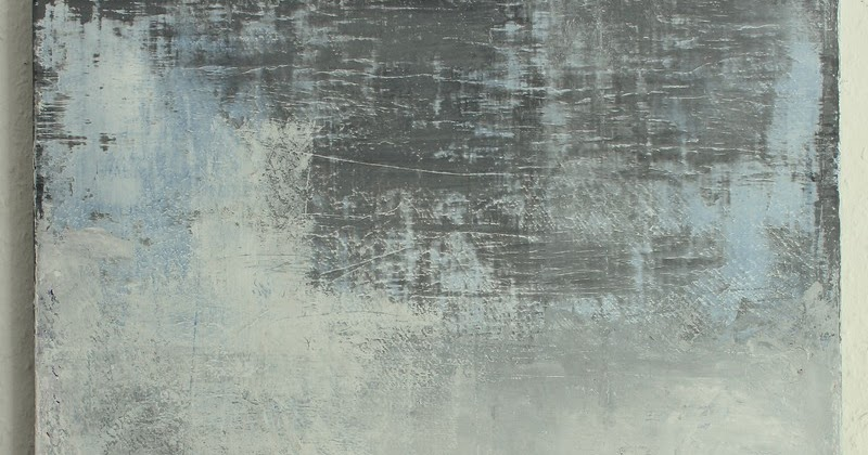 Christian hetzel blue grey painting for Minimal art kunstwerke