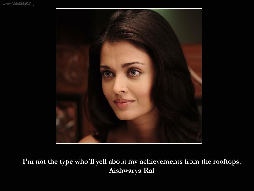 nidokidos Aishwarya Rai Quotes - Fun and Entertainment