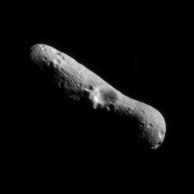 Asteroid Eros as seen by the orbiting NASA's NEAR spacecraft!