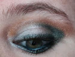 Silver Green Eye MakeUp