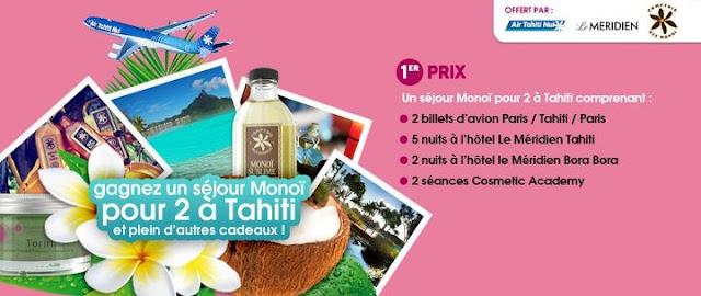 Jeu Tahiti Tourisme France: Un voyage à Tahiti et Bora Bora et pleins d'autres lots à gagner