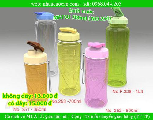 Bình nước nhựa, Bình nước MATSU, Bình nước 700ml