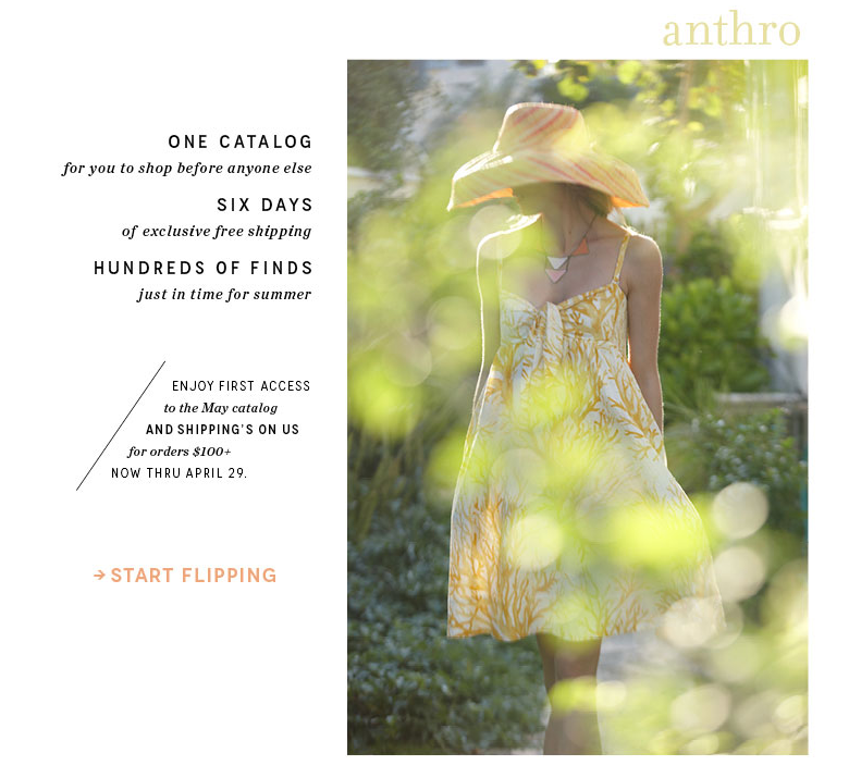Extra 40% off sale items online and in US and Canada stores for a limited time. Discount reflected in cart online and at register in stores. Does not apply to full-price items, BHLDN wedding gowns, furniture, found, Gathered by Anthropologie items, or Curated by Anthropologie items, previous purchases, and/or the purchase of gift cards.