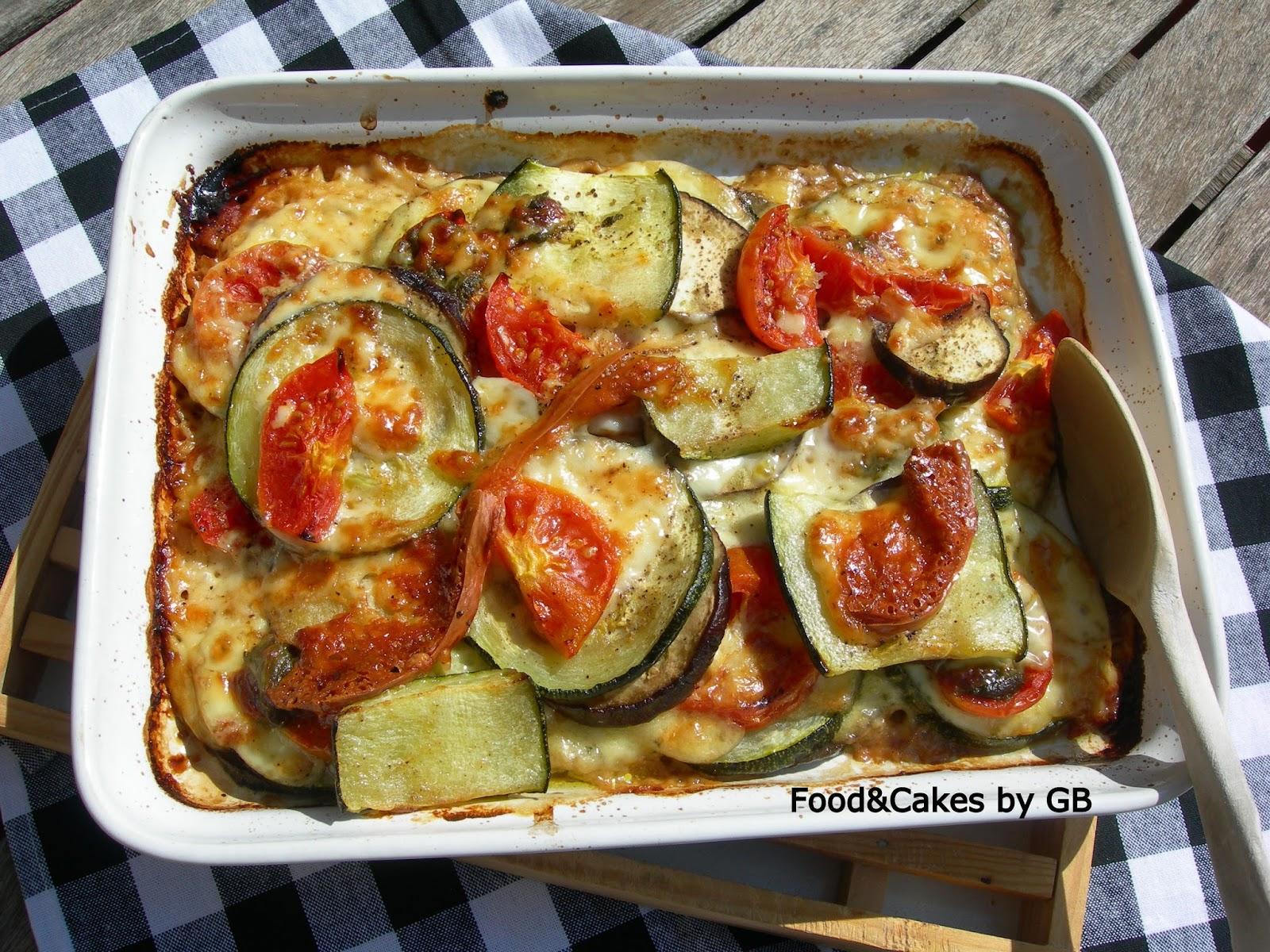 Lasa a de verduras al horno con queso recetas de cocina - Salsa para verduras al horno ...