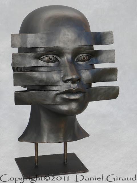 visage sculpté défiguration