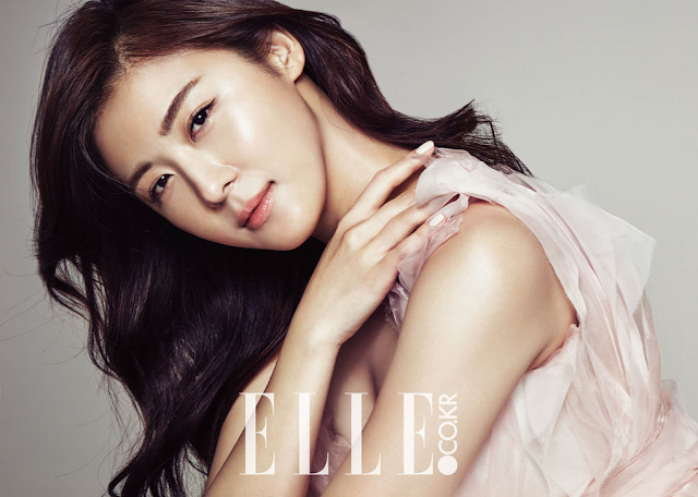 Actress, @ Ha Ji Won in Elle Korea January 2016
