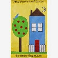 peace and grace applique garden flag