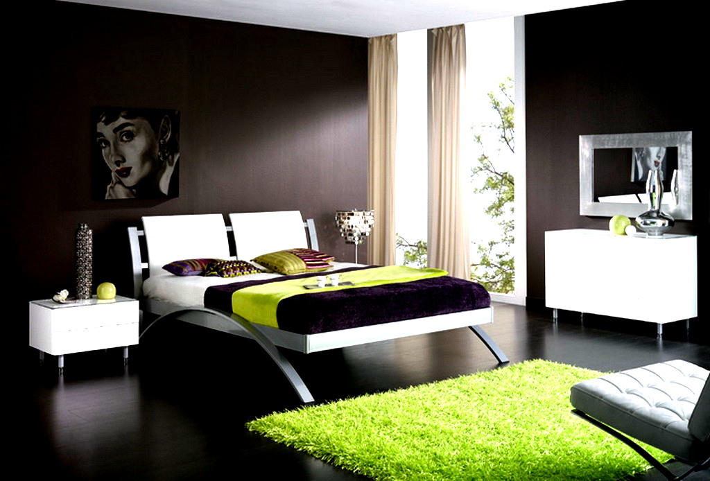 Simple bedroom design ideas for Dark brown bedroom designs