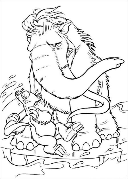 July 4 Coloring Pictures : Ice age 4 coloring pages for kids u003eu003e disney