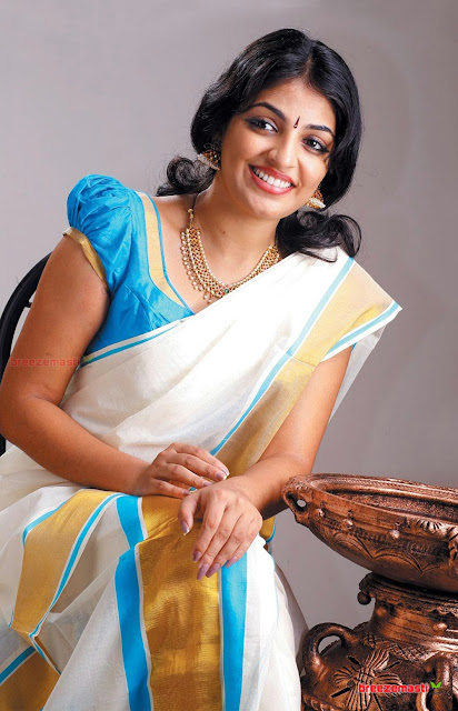 Kerala Mundu style saree draping