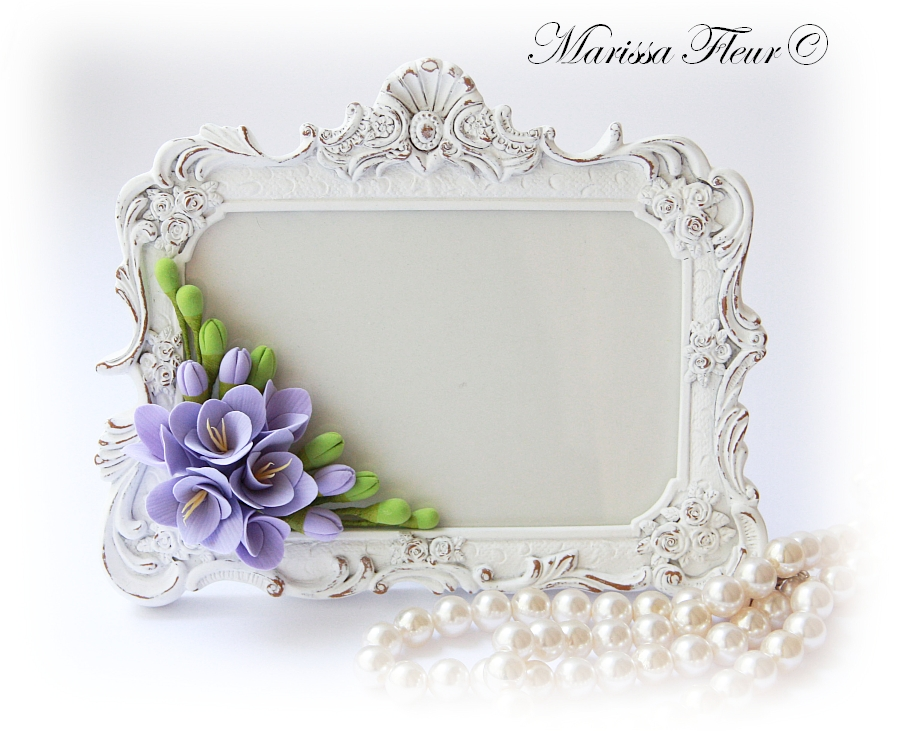 A Touch Of Beauty...: Photo Frame And Tea Cup With Freesias