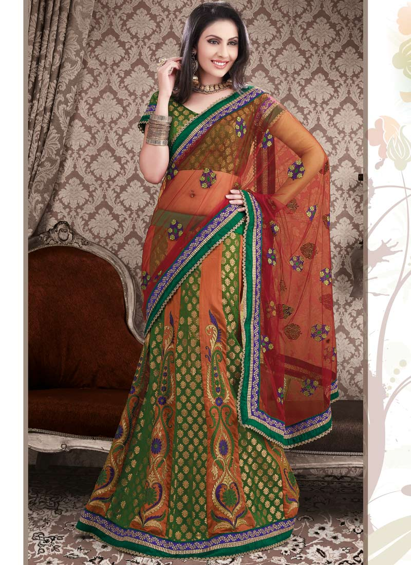 New-model-Lehenga-style-embroided-Saree