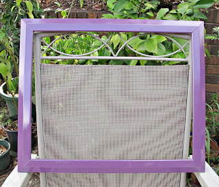 image painted picture frame purple