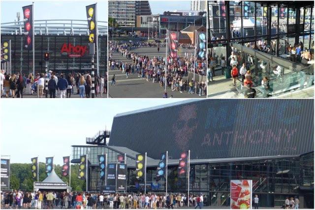 Entrada al concierto de Marc Anthony 2015 en Rotterdam – Exterior e interior del Ahoy