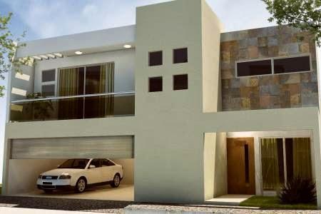 Fachadas contempor neas moderna fachada contempor nea - Fachadas con azulejo ...