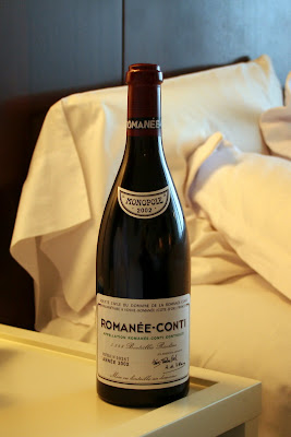 A bottle of Romanée-Conti 2002