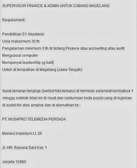 info-lowongan-kerja-magelang-terbaru-maret-2014