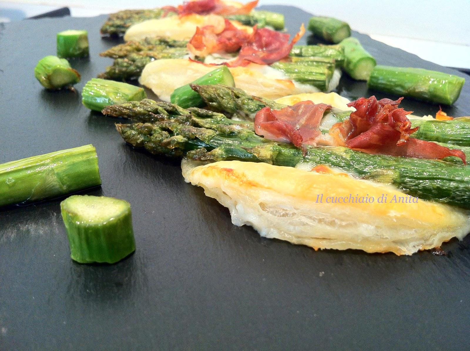 medaglioni di asparagi stracchino e parma
