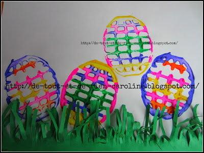 Potato masher Easter egg craft, Easter crafts, kids crafts