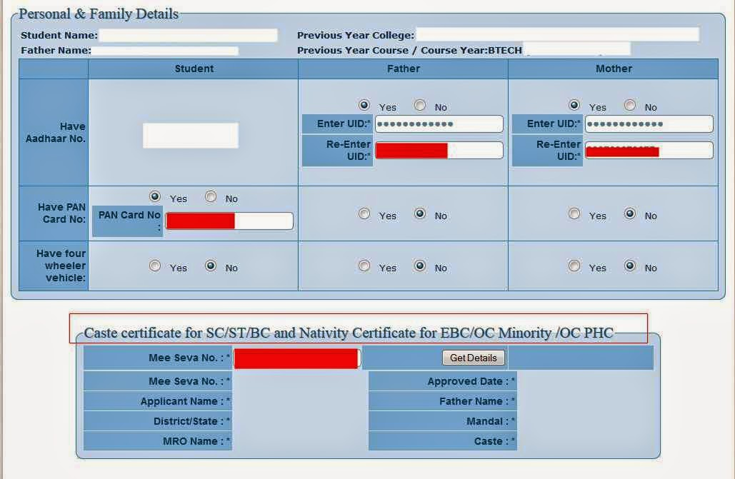 Ap epass application form, Renewal, fresh 2014-15 Andhra Pradesh