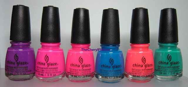 China Glaze Neons On The Shore - Jelly Swatches