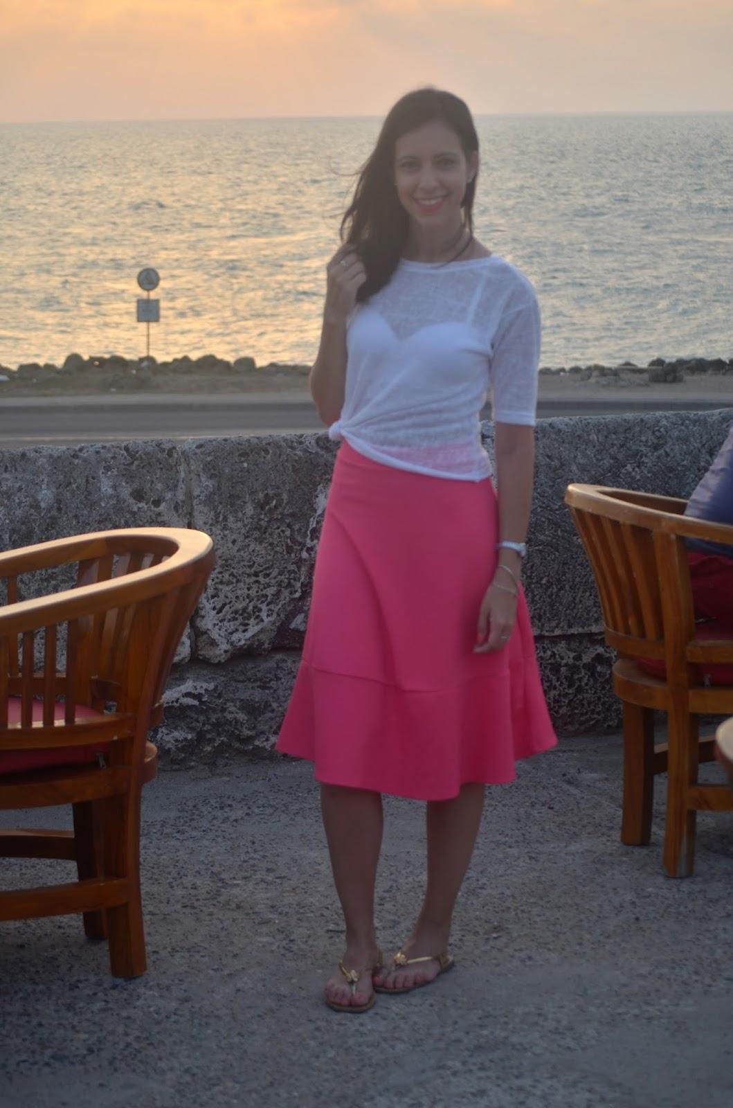 look pôr do sol Cartagena