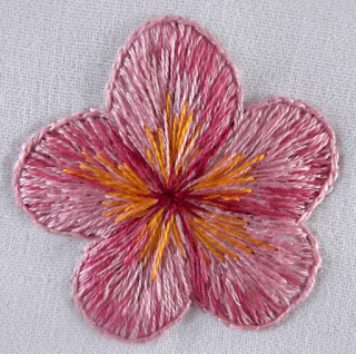 flower, petal, embroidery, stitching, thread painting, needle painting, silk shading