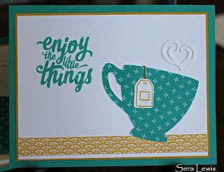 Everyday card using the Enjoy the Little Things stamp set and Cups and Kettle framelits