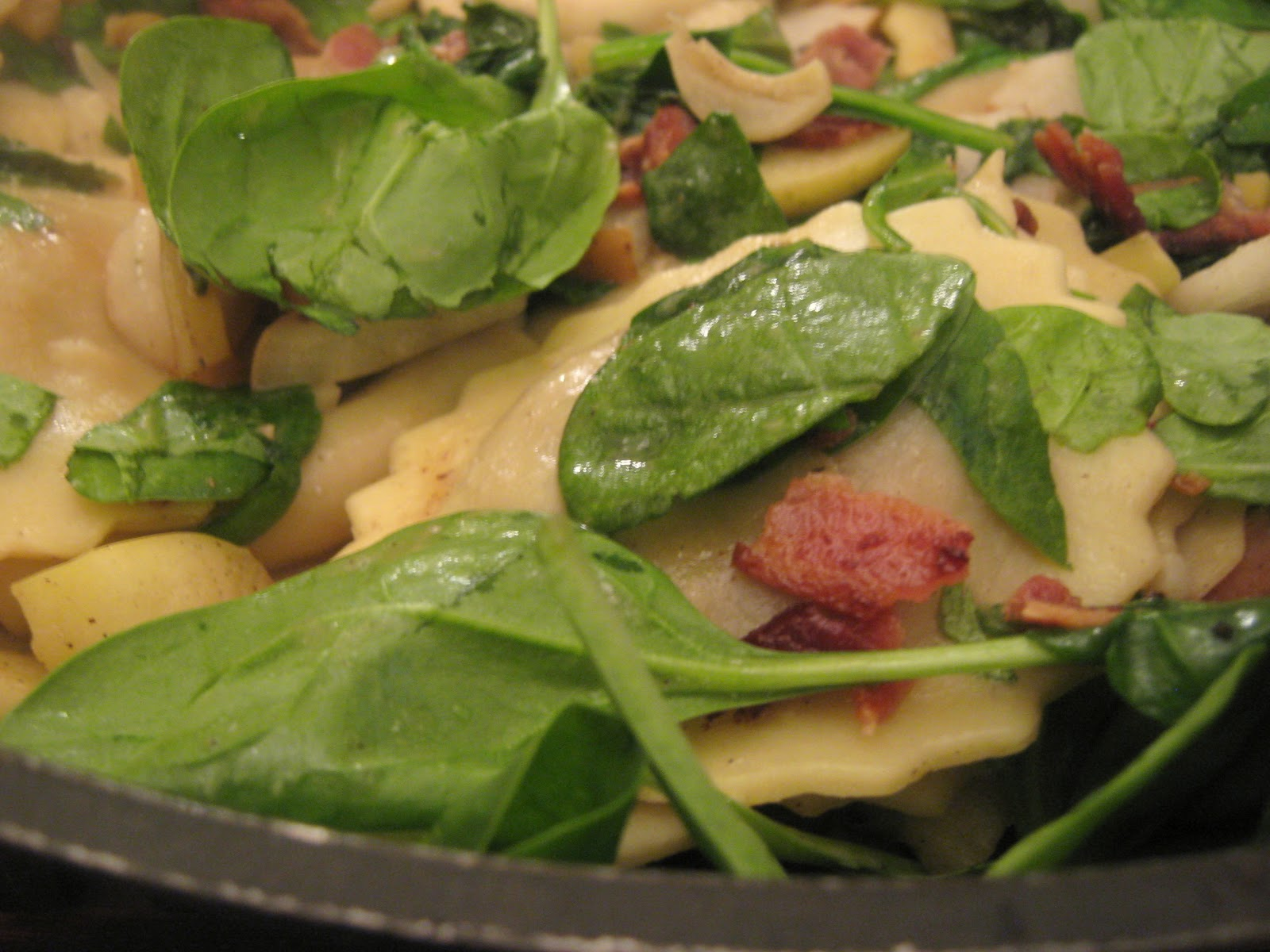 Ravioli With Baby Spinach And Bacon Recipes — Dishmaps