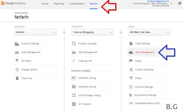 cara menambah admin baru google analytics