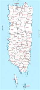 Mapa de las provincias de Puerto Rico