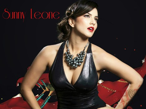 Sunny Leone in black dress pictures