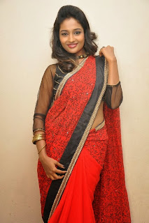 Actress Amitha Rao  Pictures in Saree at Chandamama Kathalu Movie Press Meet 0051.jpg